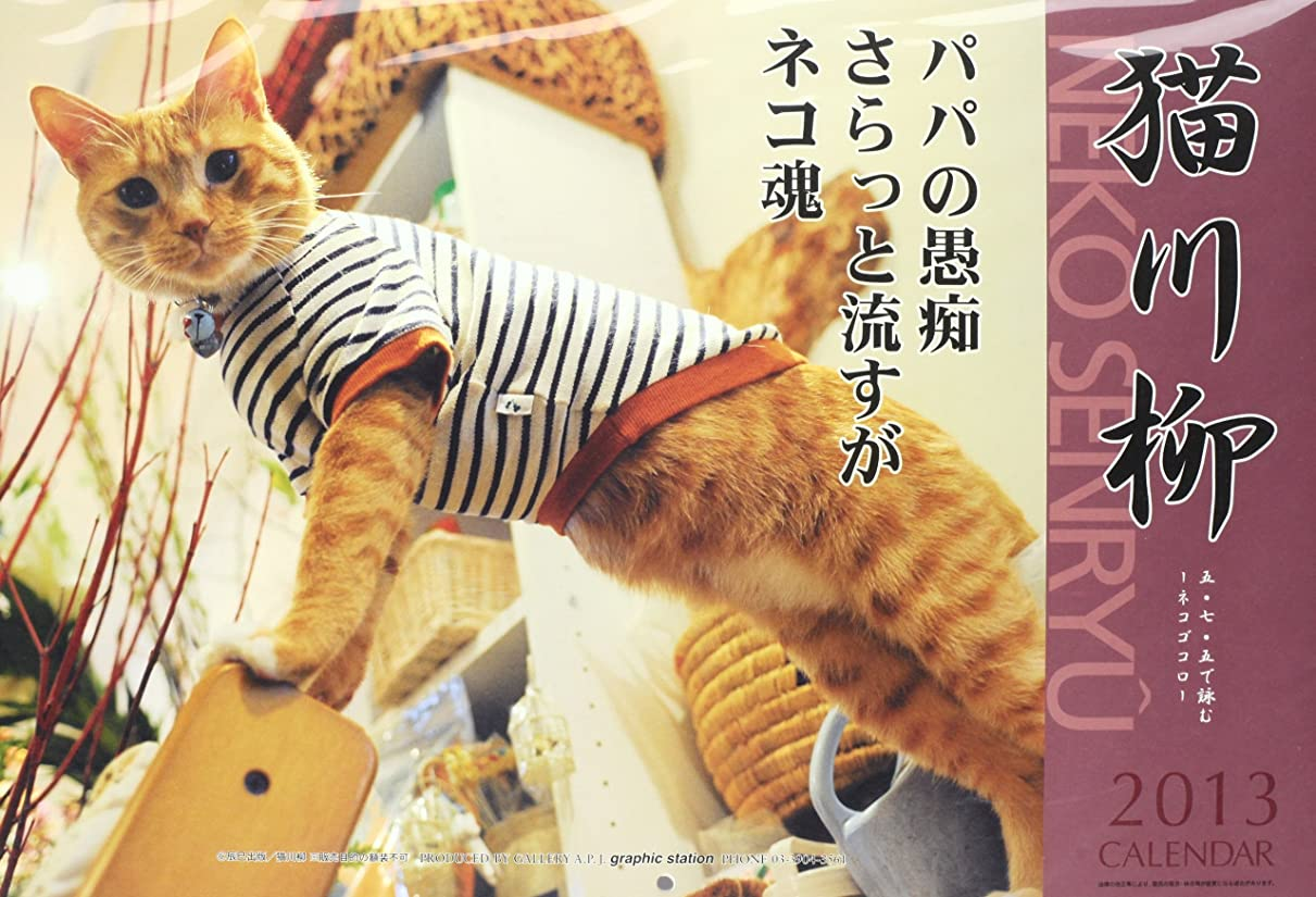 公然と素晴らしきレイプ猫川柳 カレンダー 2013年