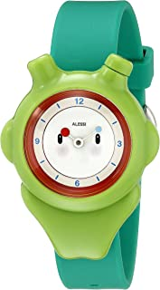 Alessi Kids AL23004 Space-Bimba Polyurethane Green Designed by Miriam Mirri Watch