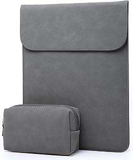HYZUO 15.4インチ ラップトップスリーブ 旧型 MacBook Pro Retina 2012-2015 15.4インチ A1398 / Dell XPS 15 9560に対応 小さな収納袋付き 防水保護ケース マイクロファイバー スエード PUレザー