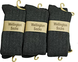 6 pares rodilla alta de lana calcetines gris