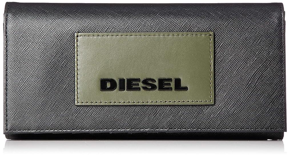 剥ぎ取る層ネスト(ディーゼル) DIESEL メンズ ブランディングパッチ レザー 長財布 X06308P0517
