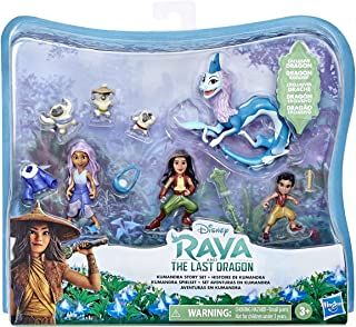 Disney's Raya and the Last Dragon Kumandra Story Set, 7 Dolls and Doll Accessories, Raya, Sisu Human, Ongis, Boun, and Sis...