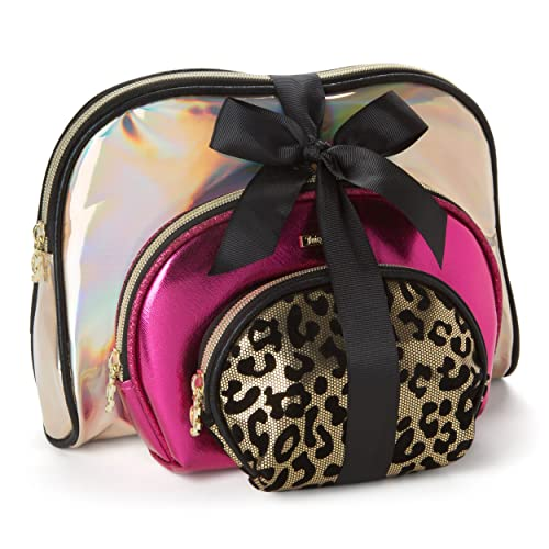 Juicy Couture Cosmetic Makeup Bags  Compact Travel Toiletry Bag Set in  Small 70152f0d82