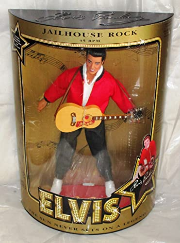 Vintage ELVIS PRESLEY highly detailed Figur (Doll) JAILHOUSE ROCK - Sammler-Edition, ca. 30cm