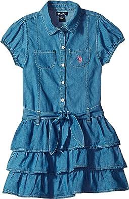 Tiered Ruffle Woven Dress (Little Kids)