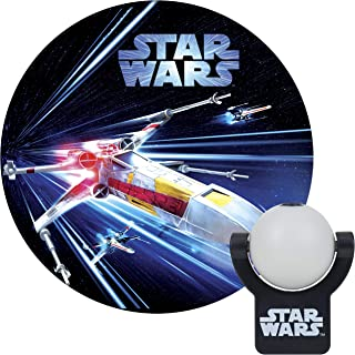 Projectables Star Wars LED Night Light Projector, Plug-in, Dusk-to-Dawn, Collector's Edition, Ceiling, Wall, or Floor, Ideal for Bedroom, Nursery, 43644, X-Wing   1-Image