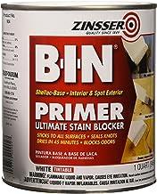 Zinsser 00904 B-I-N Pigmented Shellac Primer-Sealer & Stain Killer, White, 1 Quart