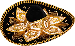 Authentic Adult Mexican Sombrero Mariachi Charro Hat, Premium Mexican Hat for Costume Parties, 5 de Mayo, 16 de Septiembre