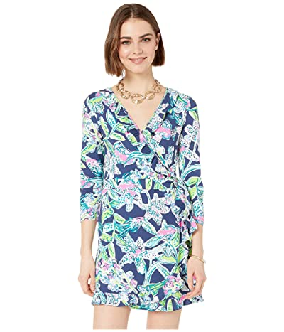 Lilly Pulitzer Jessalynne Romper (Bright Navy Sway This Way) Women