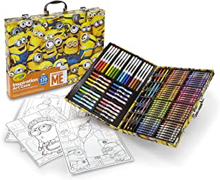 Crayola Despicable Me Inspiration Art Case, 120 Pieces, Minions, Art Set, Ages 6, 7, 8, 9, 10
