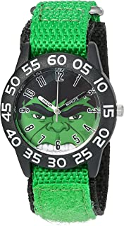 Marvel Boy's 'Hulk' Quartz Plastic and Nylon  Watch, Color:Green (Model: W003250)