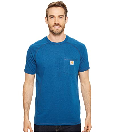 Carhartt Force Cotton Delmont Short Sleeve Tee (Light Huron Heather) Men