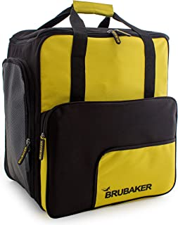 Brubaker 'Super Function 2.0' Bolso para Deporte - Mochila Porta Botas De Esquí - Amarillo/Negro