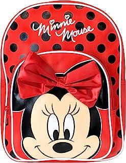 Disney Zaino di Minnie per Bambine Minnie Mouse Rosso