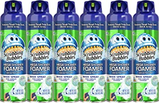 Scrubbing Bubbles 20 oz Mega Shower Foamer Aerosol, 6Count