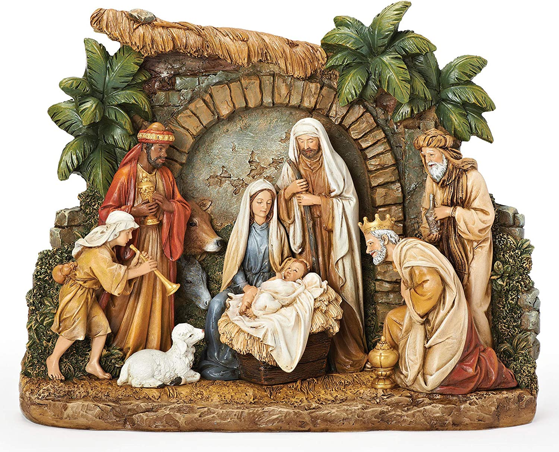 Joseph's Studio by Roman Deluxe - Financial sales sale Nativity with Facade Figure Christma