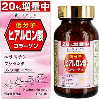 ファイン 低分子 ヒアルロン酸 コラーゲン 36日分(1日15粒/540粒入) プラセンタ エラスチン ビタミンC 含有