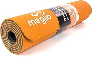 Meglio Esterilla de Yoga Eco en TPE - Antideslizante - Perfecta para Yoga, Pilates, Fitness, Rutinas de Ejercicios y Meditación - 8mm de Grosor