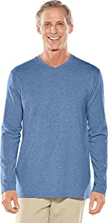 Coolibar UPF 50+ Men's Long Sleeve Everyday V-Neck T-Shirt - Sun Protective