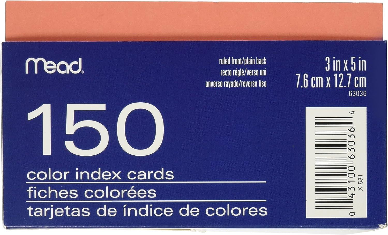 Mead Farbe liniert Index Karten mit Tablett, 7,6 x 12,7 12,7 12,7 cm, sortiert (63036) - B0013CEY1K | Zuverlässige Qualität  | Gewinnen Sie hoch geschätzt  | Elegantes Aussehen  66714c