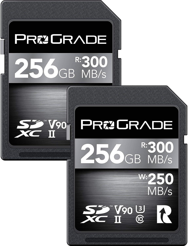 Prograde 256GB SDXC UHS-II Memory Card 2 Pack - 90