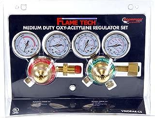FlameTech VMORAR-CS Oxy-Fuel Medium Duty Regulator Set, Victor Compatible