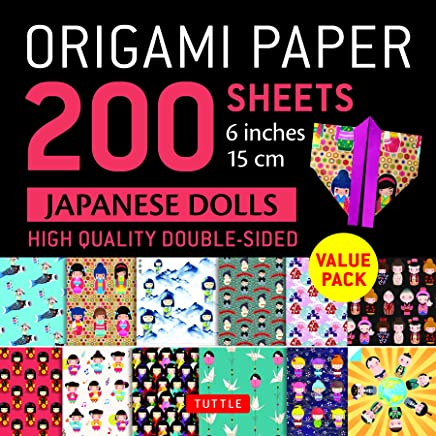 Origami Paper 200 sheets Japanese Dolls