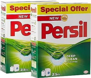 Persil Laundry Detergent Powder, Pack of 2 x 2.5 Kilograms