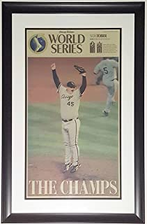 CHICAGO WHITE SOX 2005 WORLD SERIES CHICAGO TRIBUNE NEWSPAPER SPORTS SECTION 10/27/05 - PROFESSIONALLY FRAMED 14x28