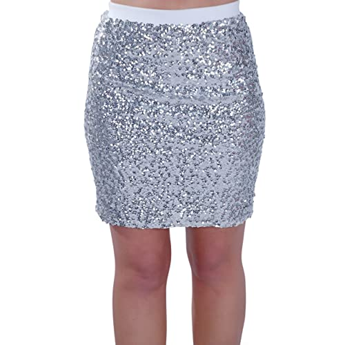 8139add716ef Eyecatch - Womens Sequin Pencil Mini Short Sparkle Shimmer Ladies Sequinned  Skirt