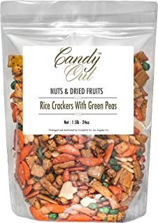 CandyOut Rice Crackers With Green Peas 1.5 Pound in Resealable Bag