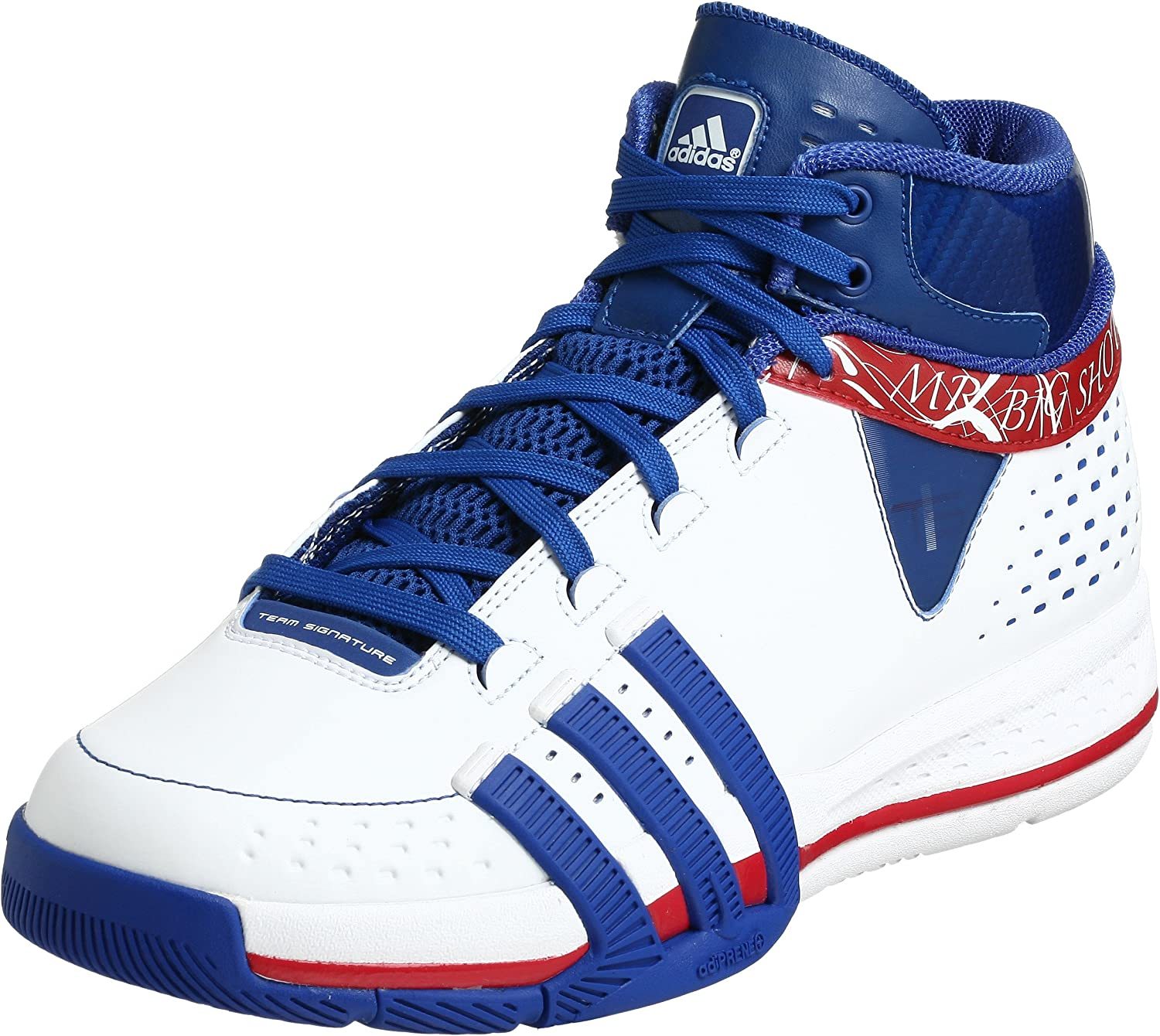 (9.5 D(M) US, White Royal Red)  adidas Men's TS Creator Player Basketball shoes