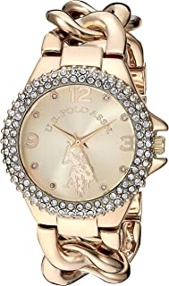 U.S. Polo Assn. Women's Analog-Quartz Watch with Stainless Steel Strap, Gold Tone, 20.2 (Model: USC40242)