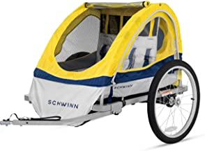 Schwinn Echo کودکان و نوجوانان / دوچرخه دوچرخه سوار دوچرخه تریلر، 20 اینچ چرخ اندازه، foldable، زرد