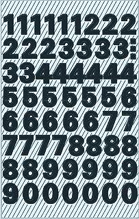 7mm or sur Transparent Étiquettes,Collant Vinyle Lettres ou Numéros Plastique