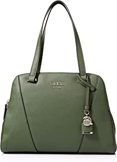 GUESS womens Shawna Forest Cali Satchel Green Size: One Size