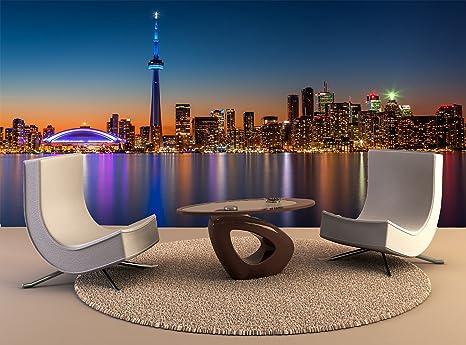 Amazon Com Wallpaper Mural Toronto Skyline Dusk Wall Art Decor Photo Wallpaper Poster Print Tools Home Improvement