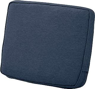Classic Accessories Montlake Back Cushion Foam & Slip Cover, Heather Indigo, 25x22x4