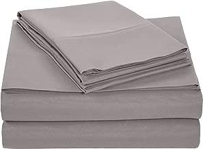 AmazonBasics Light-Weight Microfiber Sheet Set - Queen, Dark Grey