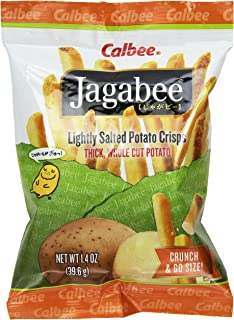 Calbee Jagabee Lightly Salted Potato Sticks, 1.4 Ounce (Pack of 8)