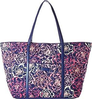 Vera Bradley Trimmed Vera Traveler Bag (Katalina Pink Navy)