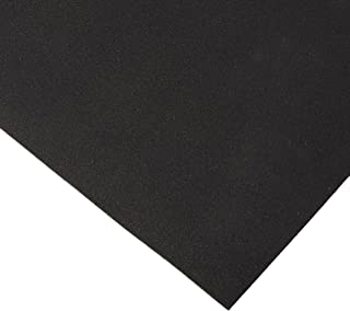 Rubber-Cal Recycled Rubber Flooring - 1/4-inch x 4ft Rolls - Black Rubber Mats Available in 8 Lengths - Made in The USA