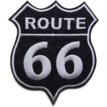Patch /Écusson patches brod/é /Écusson thermocollant Route 66 USA 8 x 8 cm