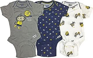 Boys 3-Pack Onesies Brand Short Sleeve Bodysuits