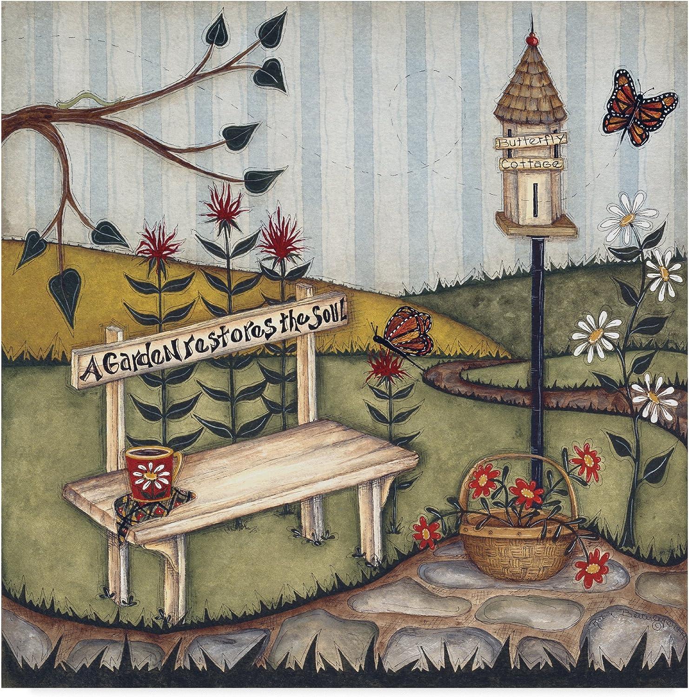 Trademark Fine Art Robin Betterley a Garden Restores the Soul 14x14, Multicolor