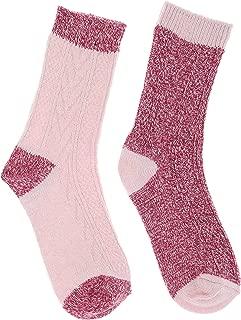 Women's Wool Blend Crew Socks, (2Pr),