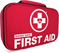 Swiss Safe 2-in-1 First Aid Kit (120 Piece) + Bonus 32-Piece Mini First Aid Kit: Compact, Lightweight for Emergencies at H...
