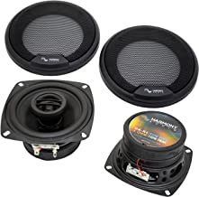 """Harmony Audio HA-R4 Car Stereo Rhythm Series 4"""" Replacement 150W Speakers & Grills"""