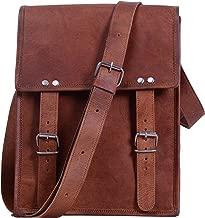Komal's Passion leather 11 Inch Handmade Standing Ipad Leather Messenger Satchel Bag