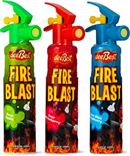 Fire Extinguisher Blast Sour Candy Spray   Variety Pack   3 Count   Certified Kosher